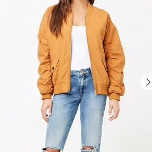 Forever 21 Yellow Bomber Jacket